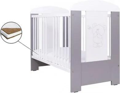 Set patut pentru copii Misi Bear si Saltea Cocos 12 cm