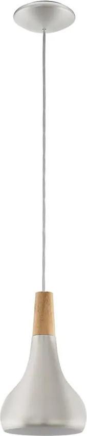 Eglo 96984 - Lampa suspendata SABINAR 1xE27/60W/230V 180mm argintiu
