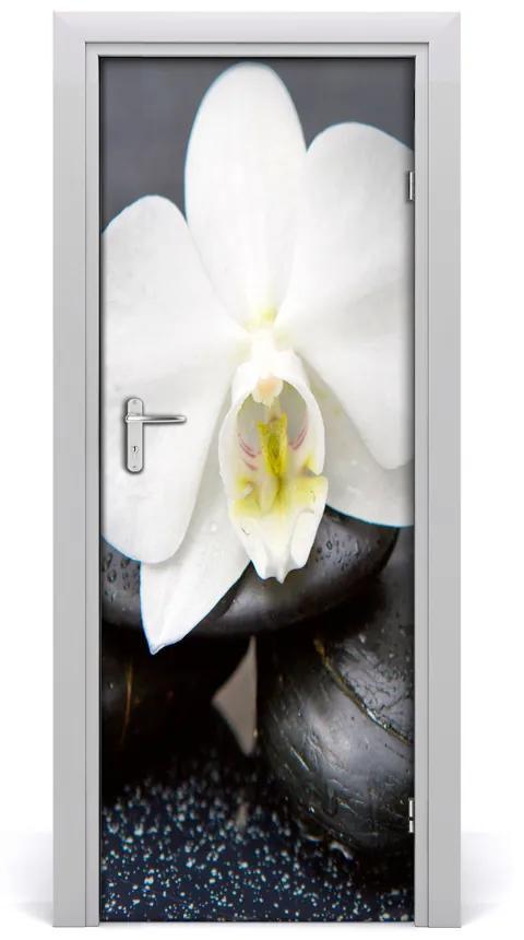 Autocolante pentru usi Perete autocolant decal UȘĂ orhidee zen