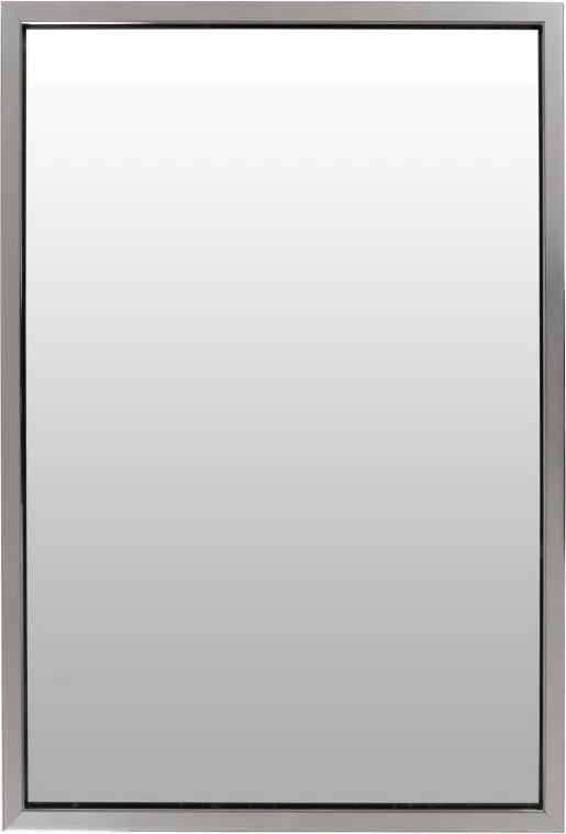 Oglinda dreptunghiulara cu rama din polistiren neagra/argintie Cliff, 68cm (L) x 48cm (L) x 1.6cm (H)