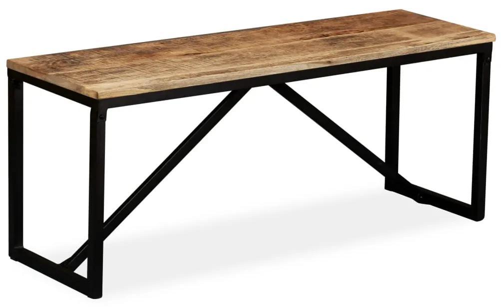 244902 vidaXL Bancă din lemn masiv de mango, 110 x 35 x 45 cm