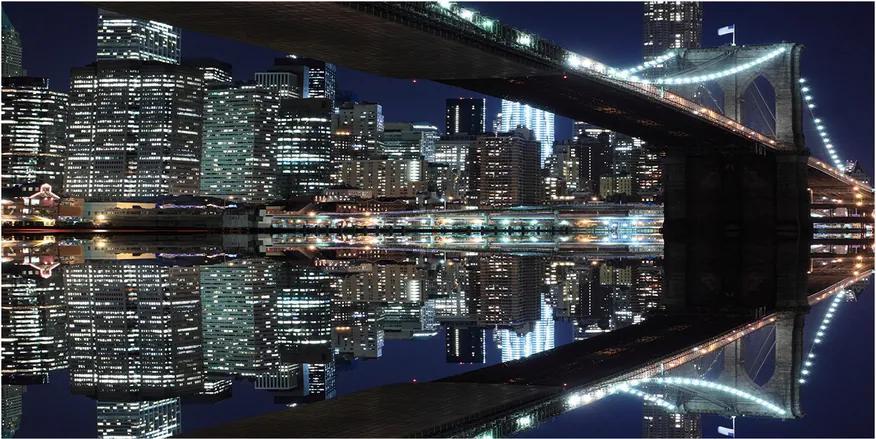 Tablou din Sticlă Podul brooklyn