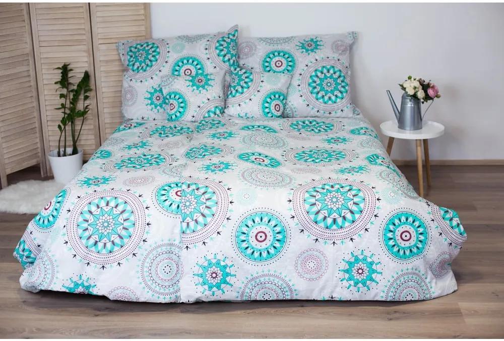 Lenjerie de pat din bumbac Cotton House Mandala, 140 x 200 cm