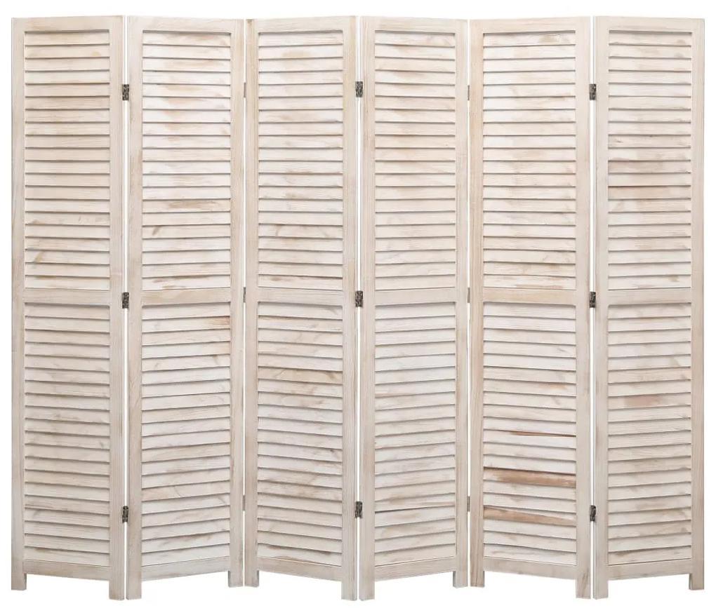 284210 vidaXL Paravan de cameră cu 6 panouri, 210 x 165 cm, lemn