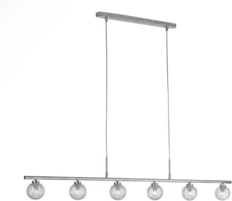 Philips Massive 40822/11/10 - Lampa suspendata COPPI 6xG9/28W