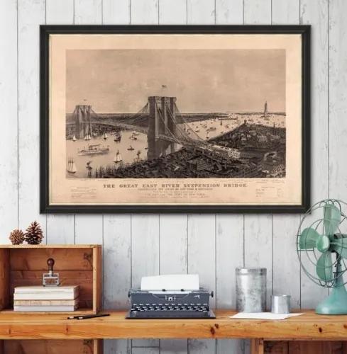 Tablou Framed Art The Great Suspension Bridge