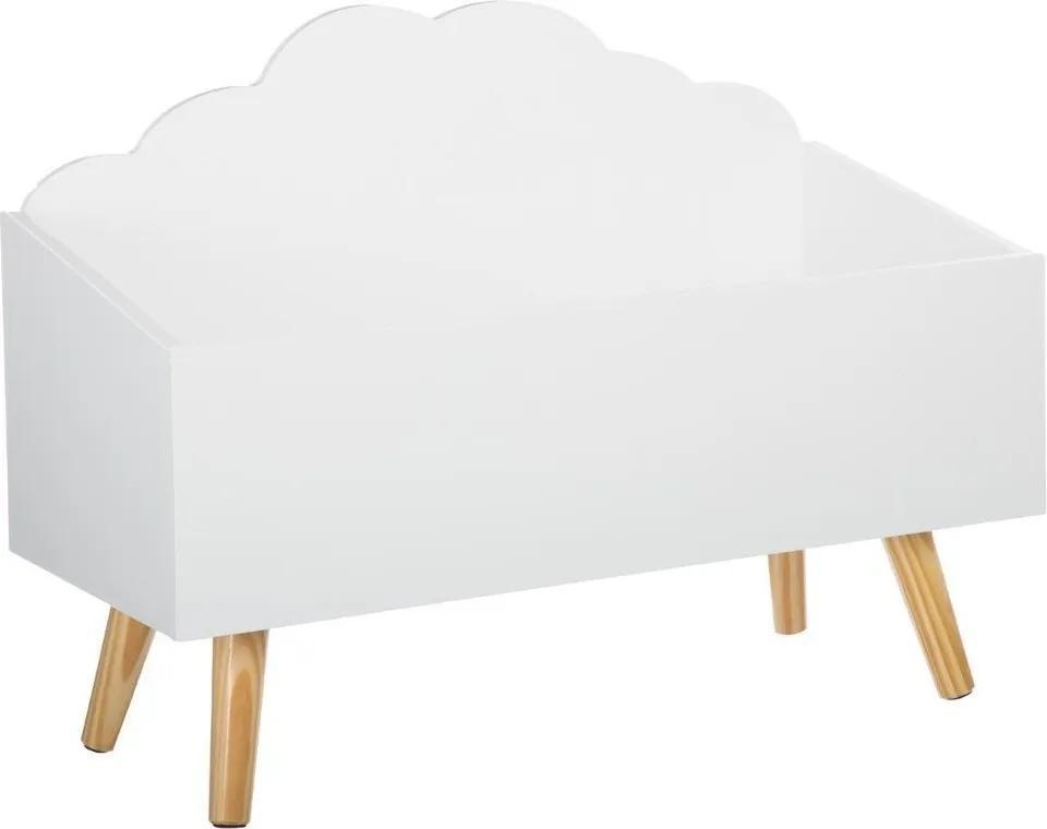Cutie pentru jucarii, Emako, Alb, 58 x 28 x 45 cm