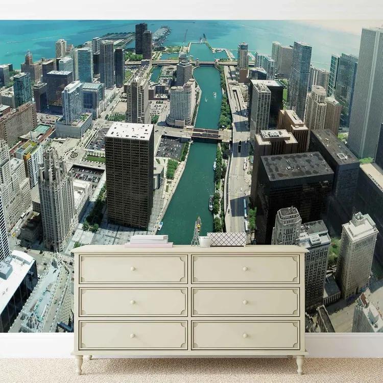 City Chicago Fototapet, (91 x 211 cm)