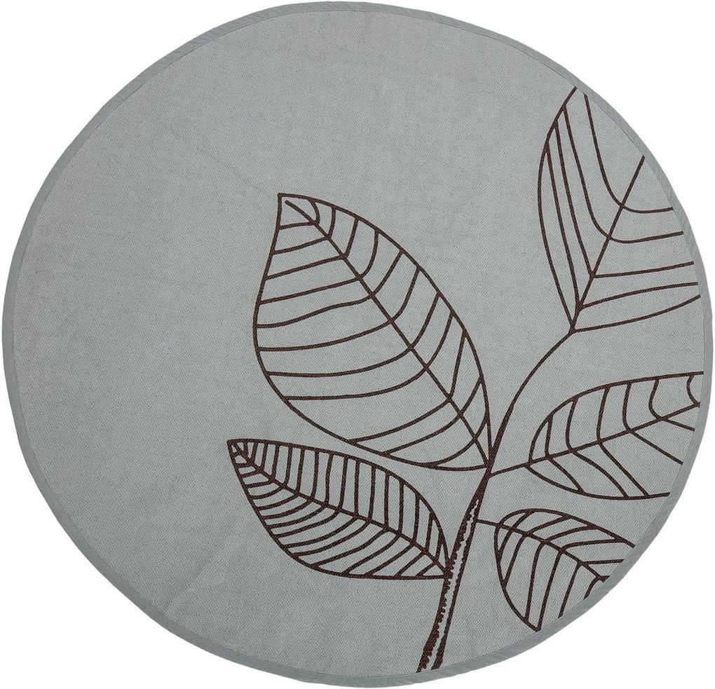 Covor Rotund Verde, Bumbac, Ø120 cm