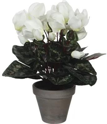Floare artificiala, Cyclamen, alba