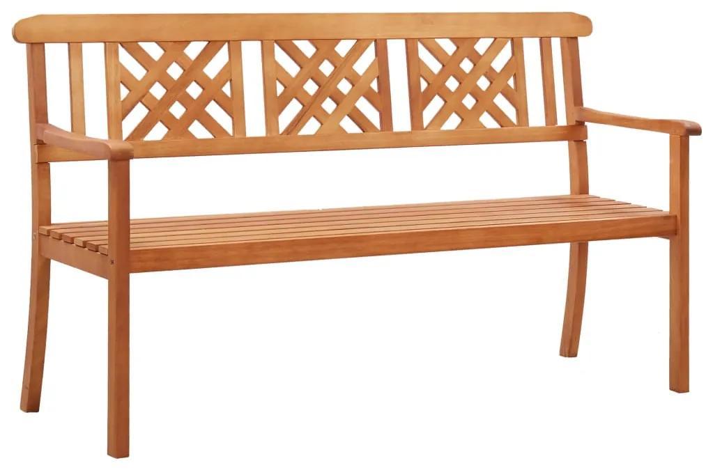 47288 vidaXL Bancă de grădină cu 3 locuri, 150 cm, lemn masiv de eucalipt