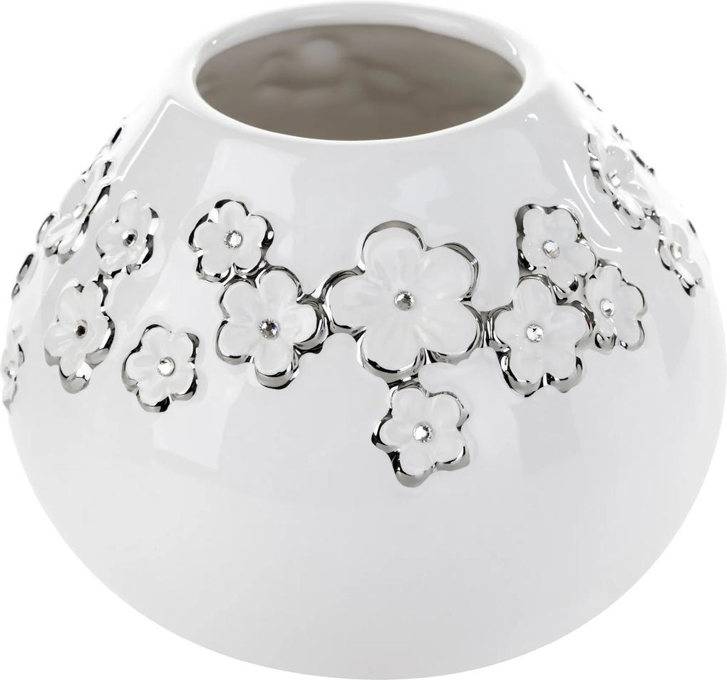 Vază din dolomit BLANKA alb 12x12x15.5 cm
