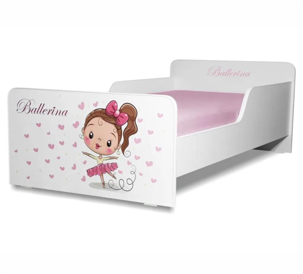 Pat copii Balerina 2-12 ani cu saltea cadou