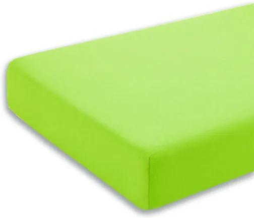 Cearceaf verde cu elastic pentru saltea 70 x 140 cm