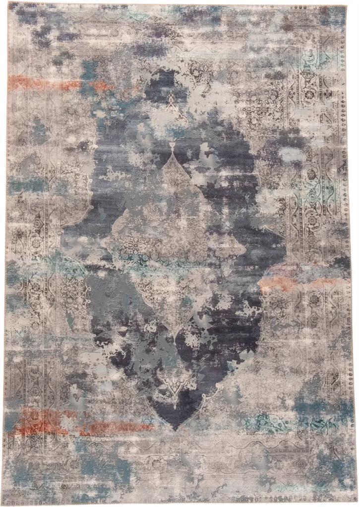 Covor Oriental & Clasic Cecilia, Gri/Albastru, 90x160 cm