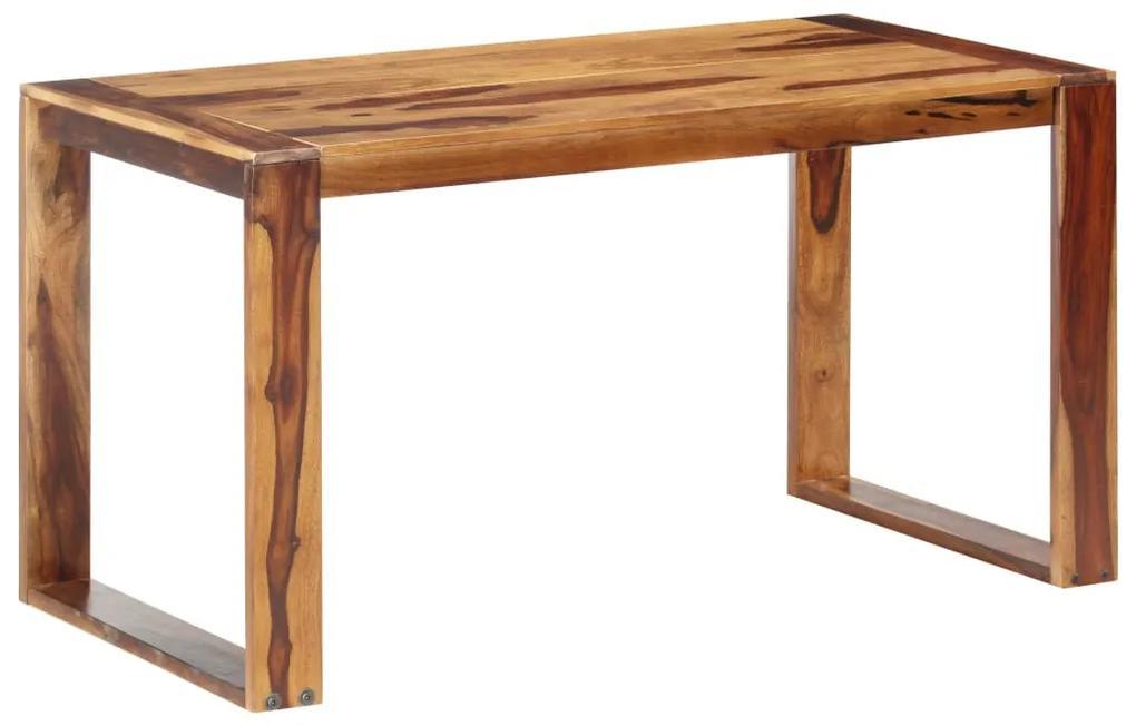 286354 vidaXL Masă de bucătărie, 140 x 70 x 76 cm, lemn masiv de sheesham