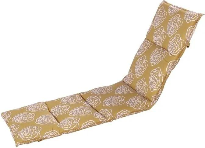 Saltea scaun grădină Hartman Peonie, 195 x 63 cm, galben