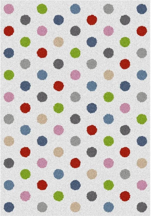 Covor Universal Norge Dots, 160 x 230 cm, alb