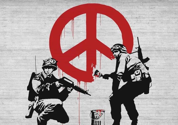 Banksy Graffiti Fototapet, (208 x 146 cm)