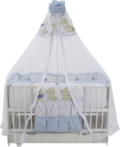 Lenjerie Teddy Play Blue M2 7 piese 120x60 cm