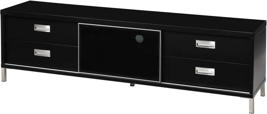Masă pentru TV cu 4 sertare Folke Satyr, înălțime 51 cm, negru