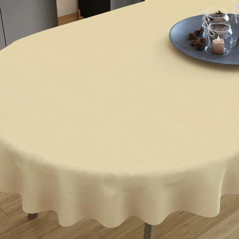 Goldea față de masă decorativă  loneta - bej - ovale 40 x 80 cm