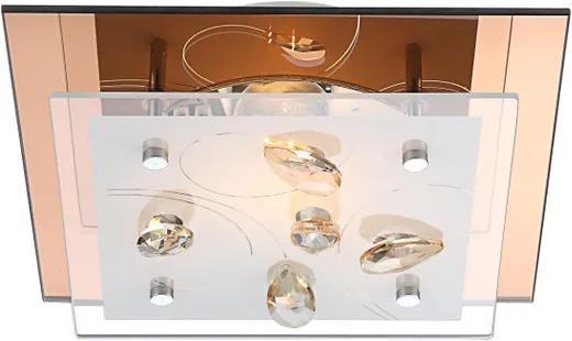 Globo AYANA 40412 Plafoniere cristal ambra 1 x E27 max. 40w 8,5 x 24 x 24 cm