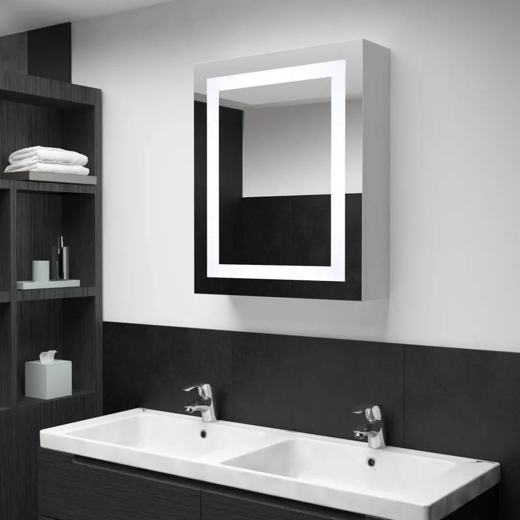 285116 vidaXL Dulap de baie cu oglindă și LED-uri, 50 x 13 x 70 cm