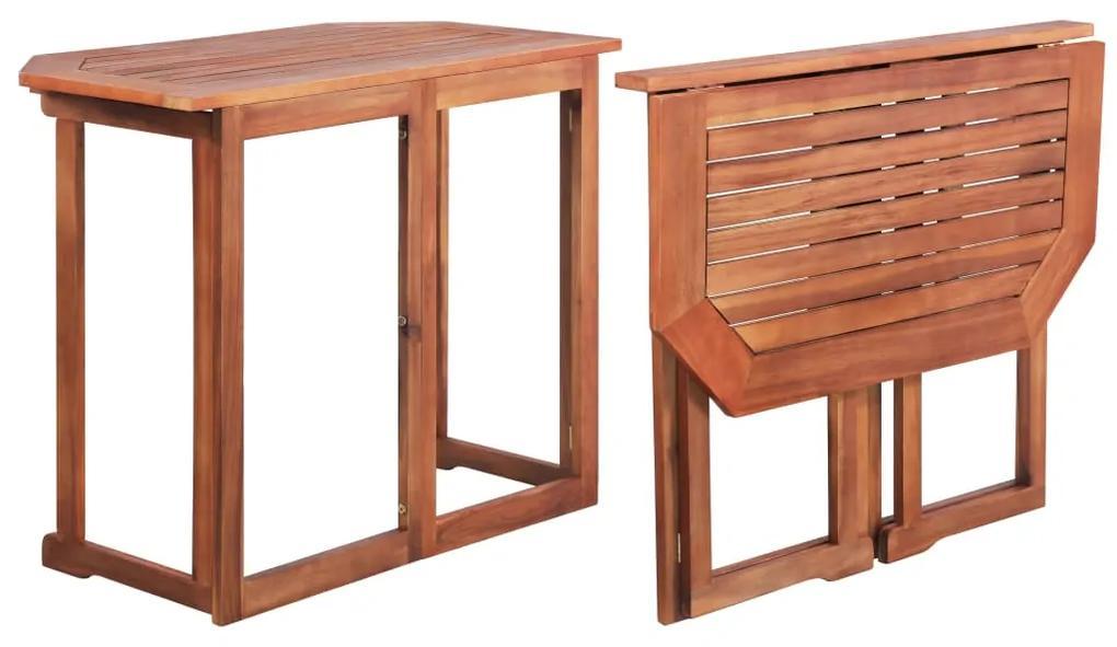 44039 vidaXL Masă de bistro, 90 x 50 x 75 cm, lemn masiv de acacia