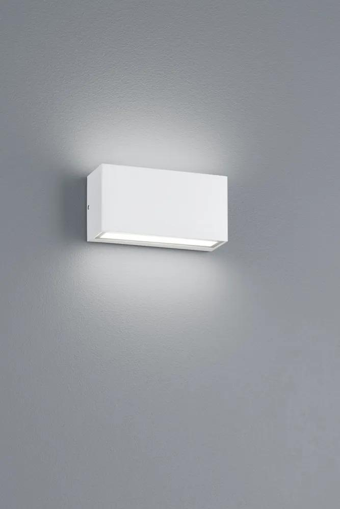 Trio 226960231 Aplice pentru iluminat exterior TRENT alb mat diecast aluminiu incl. 1 x SMD, 10W, 3000K, 800Lm 800lm IP65 A+
