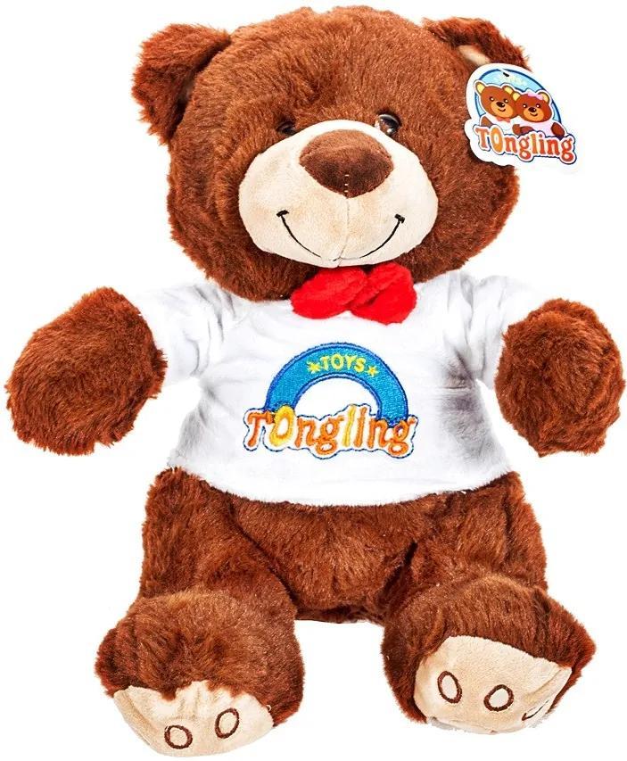 Ursulet de Plus Teddy Bear cu Papion, Inaltime 23cm
