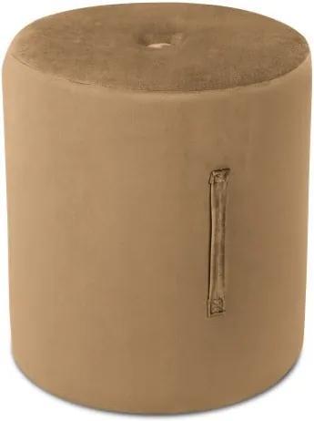 Puf Mazzini Sofas Fiore, ⌀ 40 cm, maro deschis