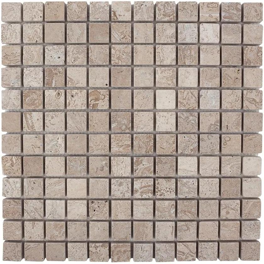 Mozaic Travertin Latte Antichizat 2.3 x 2.3cm