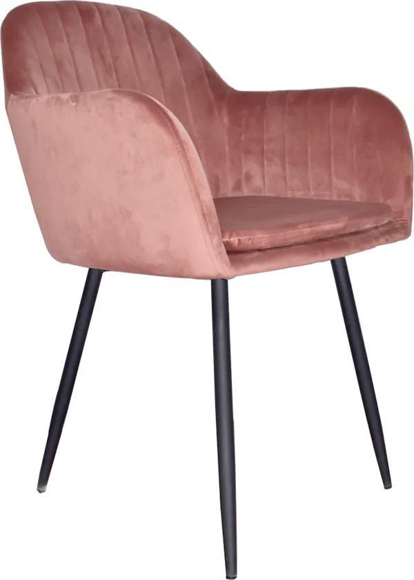 Fotoliu de design, catifea Velvet roz maroniu, ZIRKON