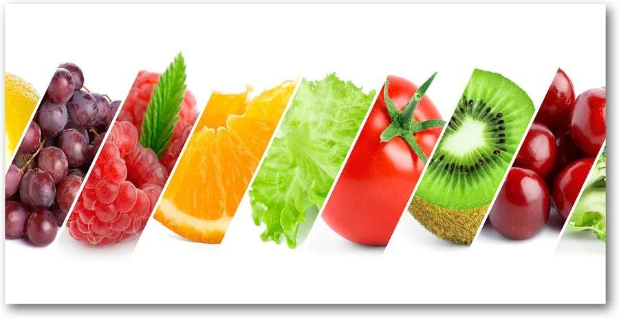 Tablou pe pe sticlă Fructe si legume