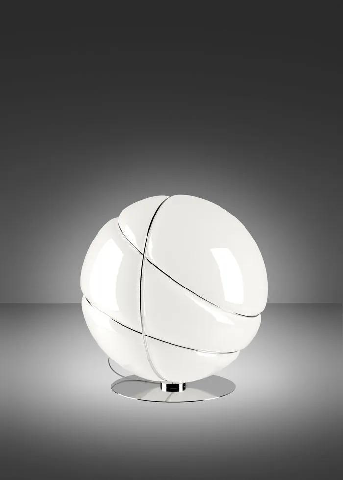 Armilla Crom - Lampă de masă sferică din sticlă