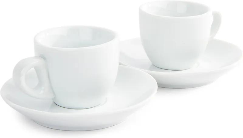 Set 2 cești Domestic Espresso cu 2 farfurioare, 80 ml