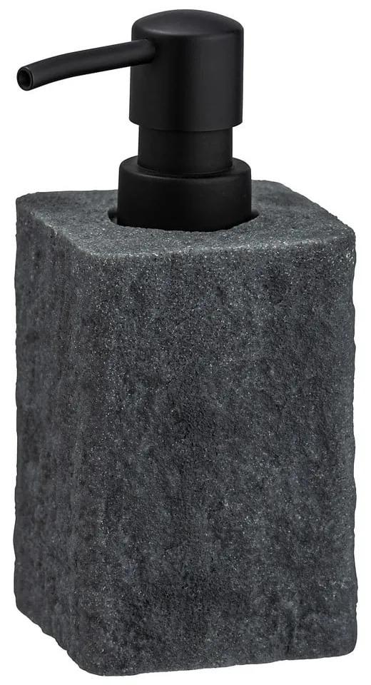 Dozator săpun Wenko Villata, 300 ml, gri închis