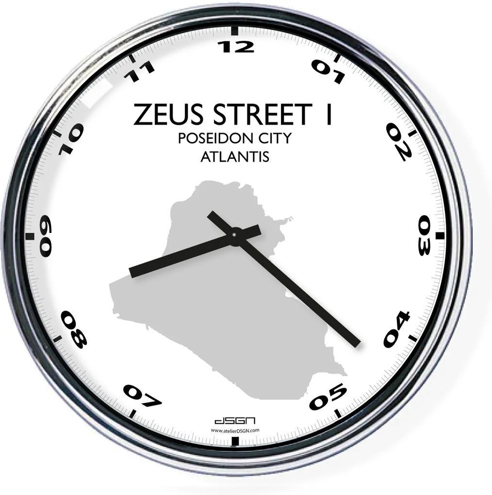 Ceas de birou (deschis sau întunecat) - Adresa dvs., diametrul 32 cm   DSGN, Výběr barev Světlé