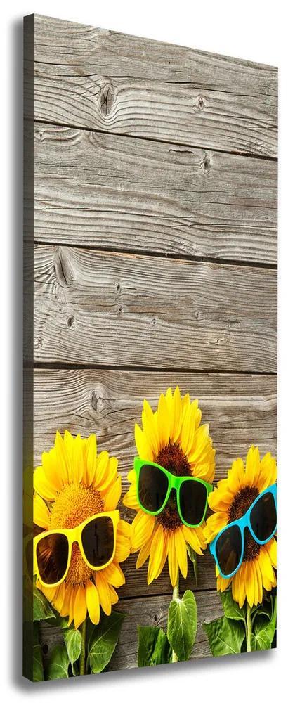 Imprimare tablou canvas Sunflowers ochelari