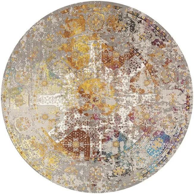 Covor Tissir, galben / gri, 133 cm