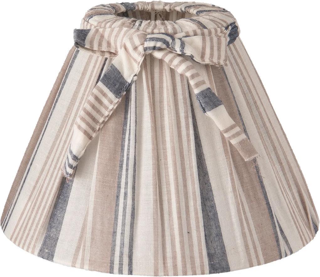 Abajur veioza textil albastru bej Ø 22x14 cm E27
