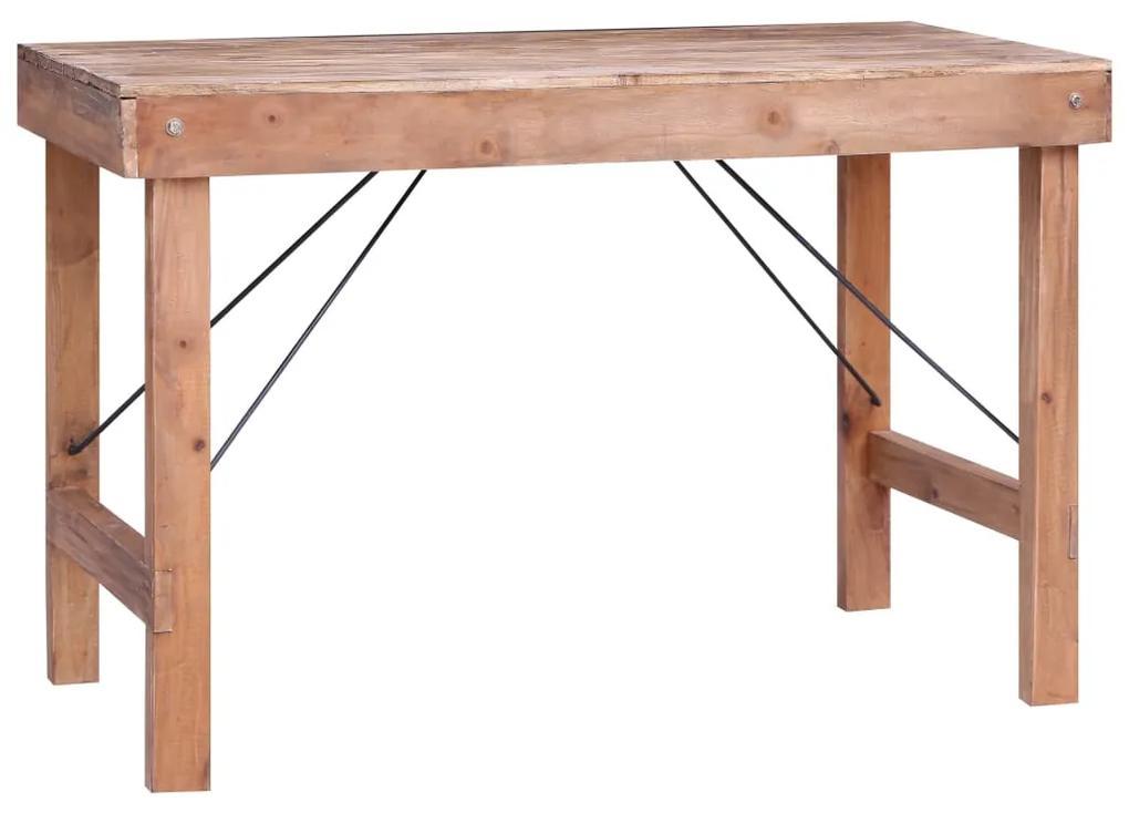 283941 vidaXL Masă de bucătărie, 120 x 60 x 80 cm, lemn masiv reciclat
