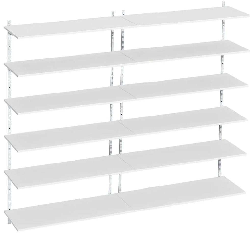 Raft modular Sigma 12P, 160x30x200 cm, Metal/PAL Alb