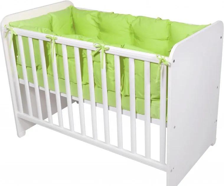 Set protectii laterale pentru pat 4 piese 60 x 120 cm Green