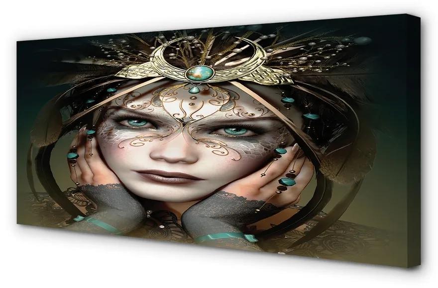 Tablouri canvas Tablouri canvas ochi albaștri Femeie