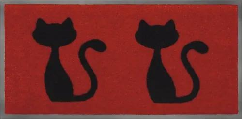 "Covoras intrare antimurdarie Emotion ""cats red"" 40x80 cm"