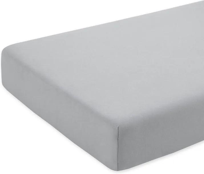 Cearceaf gri cu elastic pentru saltea 63 x 127 cm