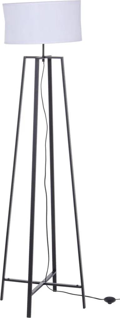 Lampadar fier negru cu abajur alb Mathis Ø 40 cm x 156 h