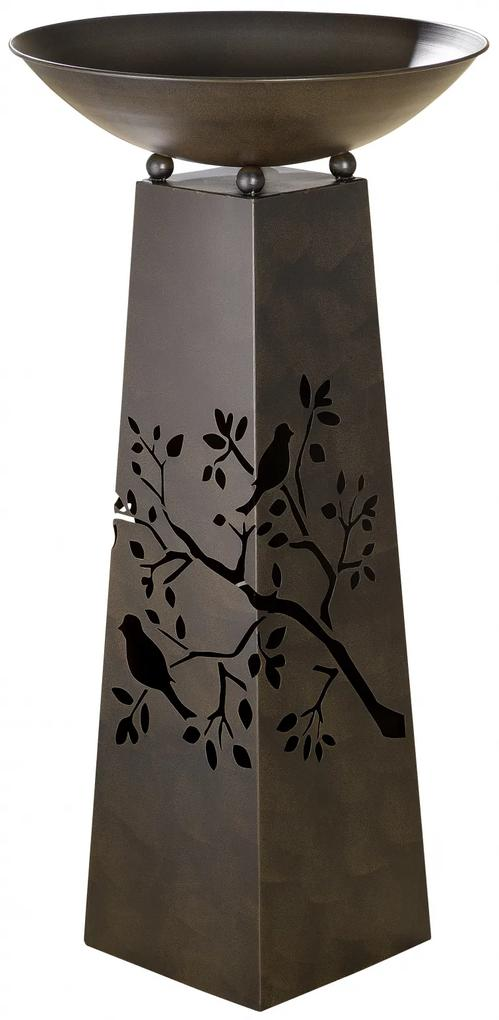 Suport flori BIRD TWIG, metal, 102x50 cm